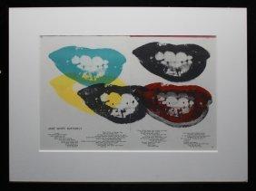 "Andy Warhol ""marilyn Monroe Lips"""
