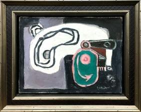 """Roy Lichtenstein, """"eccentric Cam"""" Original Oil"""