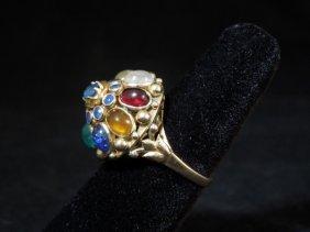 17kyg Vintage Gemstone Ring