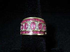 Ruby And Diamond 14kyg Ring