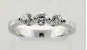 Present Past Future Diamond Ring .54ct 14k W/g