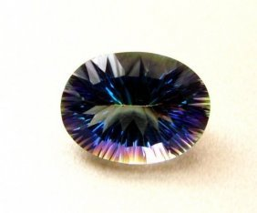 Top Rainbow Mystic Topaz Oval Concave 16.95ct
