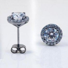 Creation Diamond Stud Earrings 2.40ct 18kb/g Over