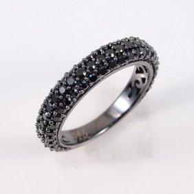 Creation Black Diamonds 1.10ct 18k B/g Overlay