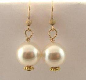 Swarovski Crystal Pearl Dangle Earring 14k G/fill