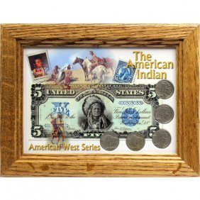Buffalo Nickel Coin Set & American Indian Frame