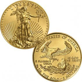 1/10 Oz Gold American Eagle - Brilliant Uncirculated