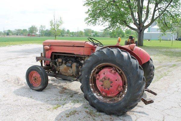 Massey Ferguson 65 Blade : Massey ferguson model tractor lot
