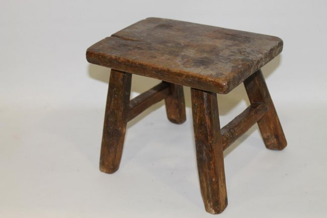 Small Child Size 4 Legged Stool Lot 262