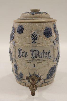 Pennsylvania Stoneware Ice Water Crock Cooler Cobalt Lot 45