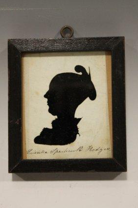 1815 Hollow-cut Identified Silhouette - Salem Mass