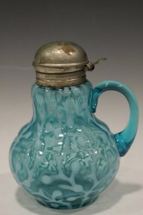 Blue Opalescent Victorian Seaweed / Coral Syrup - Hobbs