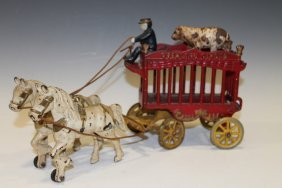 Kenton Overland Circus Wagon Horses & Bear
