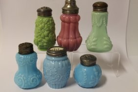 Victorian Salt Shakers - Lot Of 6