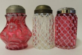Victorian Hobbs Sugar Shakers & 1 Other