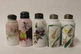 C. F. Monroe Opalware Salt Shakers