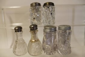 Victorian Glass Salt Shakers - Group Of 6