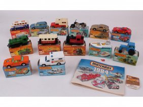 Thirteen Mint In Box Matchbox 1-75 Series, Including