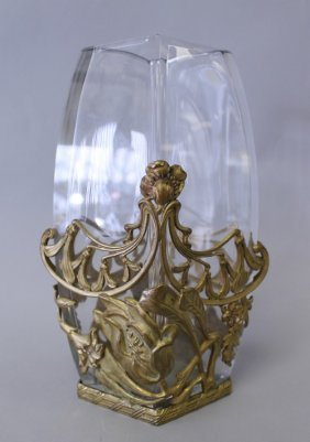 19TH CENTURY BACCARAT AND ORMOLU VASE