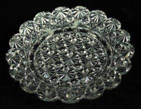 Baccarat Style Cut Glass Dish