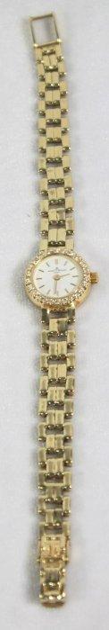 Ladies Baume & Mercier Diamond And 14 K Yellow Gold