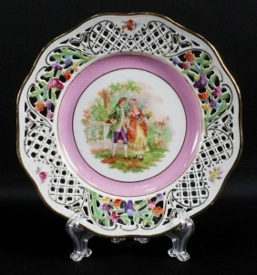Schuman Germany Porcelain Reticulated Plate