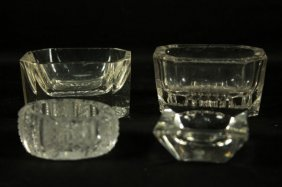 Set Of 4 Baccarat Style Dishes