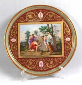 An Onyx And Ormolu Mounted Sevres Style Porcelain And