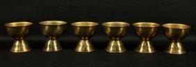 Set Of 6 Bronze Chalices