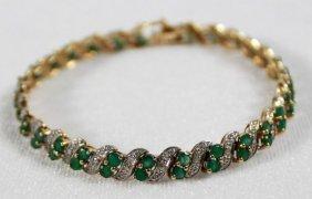 10k Gold Emerald Bracelet