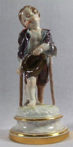 Meissen Porcelain Figure Of Cupid As Beggar