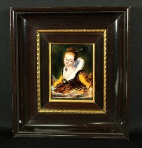 French Limoges Painting On Copper