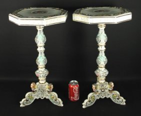 Pair Of Capodimonte Tables