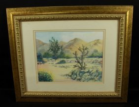 Signed Painting Of Desert Scene