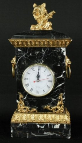 Marble And Ormolu Clockmarble And Ormolu Clock