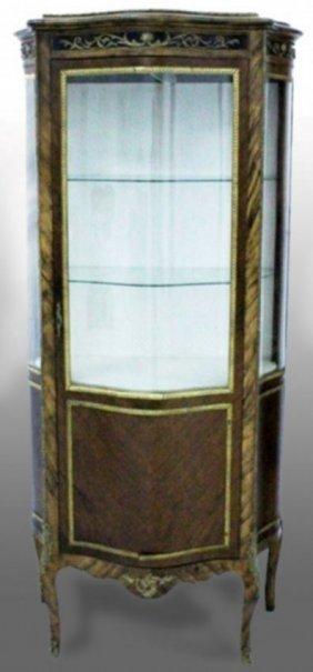 Louis Xvi Gilt Bronze Mounted Mahogany Curio Cabinet