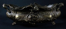 Antique French Louis Xv Style Bronze Finish Metal