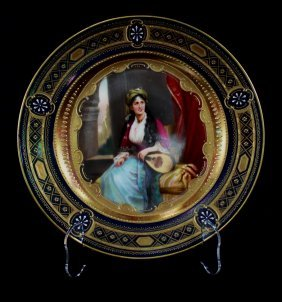 19th C Royal Vienna Cabinet Plate, Signed E. Lattermann