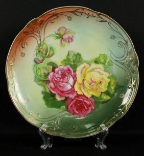 German Floral Porcelain Plate