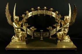 Magnificent 19th C. Bronze Cathedral Centerpiece