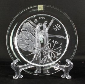 Lalique Plate Of Butterfly
