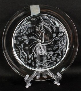 Lalique Plate Of Fish Ballet