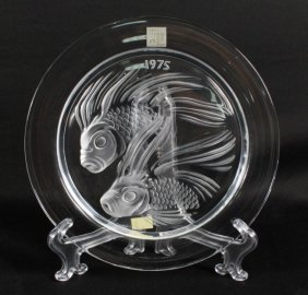 Lalique Plate Of Fish Duet