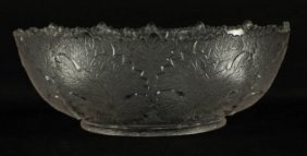 Lalique Stlye Etched Glass Bowl