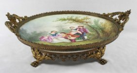 Sevres Style Tray With Handles