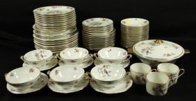 69 Pc. Limoges Porcelain Teaset