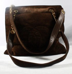 Chanel Brown Suede Shoulder Bag