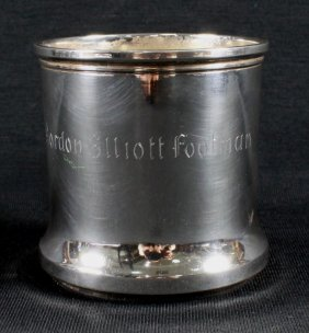 "Antique Sterling Silver Cup With "" Gordon Elliot"