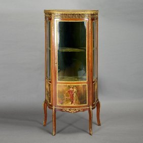 Louis Xv Style Vernis Martin Style China Cabinet
