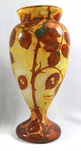Daum Nancy Cameo Vase